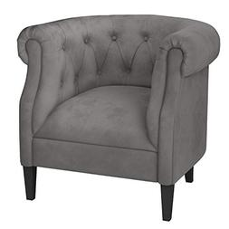 Ravenna Home Westcott Curved Tufted Rolled Arm Accent Chair,