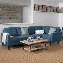 Zahra 5-piece Fabric Sofa Sectional by Christopher Knight Ho
