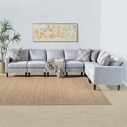 Zahra 7-piece Fabric Sectional Sofa Set by Christopher Knigh